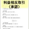 取締役会議事録 利益相反取引(承認)